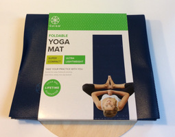Foldable Yoga Mat - Navy