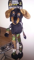 U.S Army Crinkle Soldiers Dog Toy