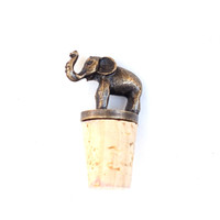 Brass Bottle Stopper - Elephant