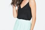 Mint Pleated Mini Skirt