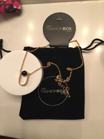 Delicate black and gold necklace from Her Fashion Box. New with tags.