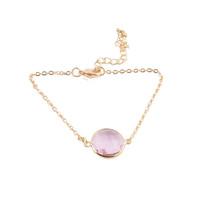 Emery Brave Bracelet Pink Stone