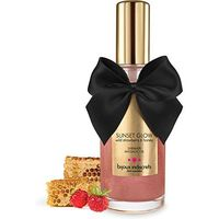 bijoux indiscrets Sunset Glow Wild Strawberry & Honey Edible Shimmer Massage Oil