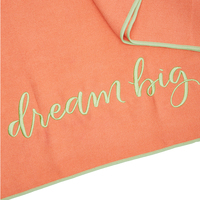 SUMMER AND ROSE YOGA TOWEL: DREAM BIG (CORAL)