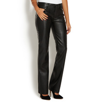 Faux leather flares