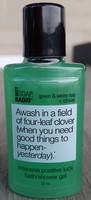 Not Soap Radio Green & White Tea+Clover Shower Gel, Travel size