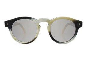 Illesteva Leonard Matte Dark Horn Sunglasses