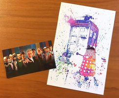 Exclusive Dr. Who 4 X 6 print and Dr. Who magnet