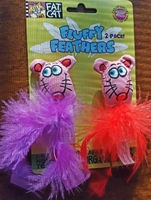Fat Cat Fluffy Feathers - 2 Pack