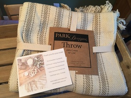 Farmhouse ticking throw