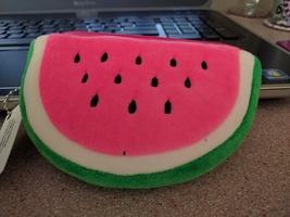 Plush watermelon coin purse