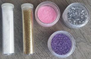Glitter powder set, 5 colors