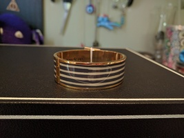 Bangle Up Marianne Gris ardoise (navy and white)