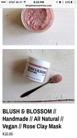 Moontree Blush & Blossom rose clay mask