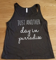 Another Day in Purradise Tank Top - Exclusive by Catladybox
