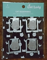 Silver Cat Clip Bookmark Set - Limited Edition for CatLadyBox