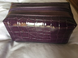 Purple Bare Minerals makeup bag