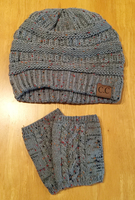 C.C Knit Hat and Fingerless Mittens