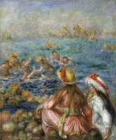 Pierre Auguste Renoir Bathers Greeting Card