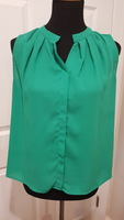 Collective Concepts Green Sleeveless Blouse - SP (small/petite) - NWOT