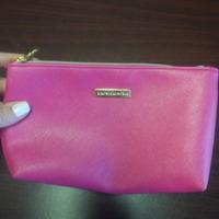 Bare Minerals Pink Saffiano Makeup Bag