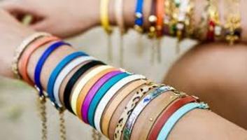 La Mer leather wish bracelet trio