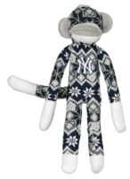 New York Yankees Ugly Sweater Sock Monkey