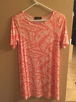 Hourglass Lilly Fern Print Tunic - S/M