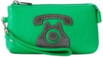 Melie Bianco Neon Green Phone Wristlet