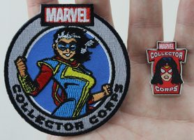 Ms.Marvel Patch & Spider Woman Pin