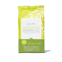 Acure Organics Unscented Argan Oil Cleansing Towelettes