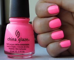 China Glaze Nail Lacquer in Shocking Pink