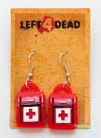 Left 4 Dead First Aid Kit Earrings