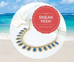 Giselle Blue Collar Necklace