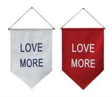"Canvas ""Love More"" Banner"