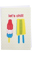 Let's chill card from Kate and anne
