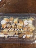 Sour cream & garlic crostini