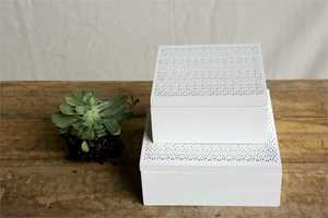 White decorative Wood Box