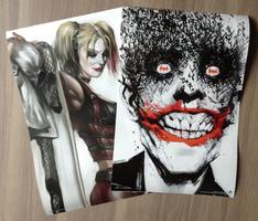 Joker and Harley Quinn Poster set