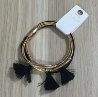 Gold and Black Tassel Bracelet