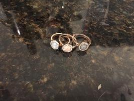 Set of 3 Gemstone Rings