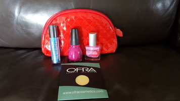 Ipsy December 2015 bag with Ofra Godet refill, nail polish