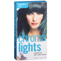 Chroma lights metallic teal temporary hair color spray