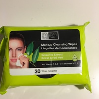 Global Beauty Care green tea makeup cleansing wipes