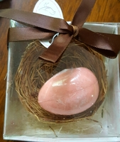 The Nest Egg Scented Soap in basket