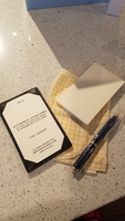 Black leather Jotter and card refills
