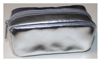 Bare Escentuals Silver Rectangular Zippered Make-up Bag