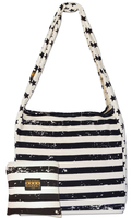 Faded Black, Stars & Stripes Canvas Large Market Tote