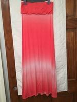 Pink ombré maxi skirt