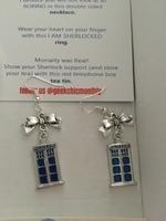 Doctor Who Inspired Tardis Earrings